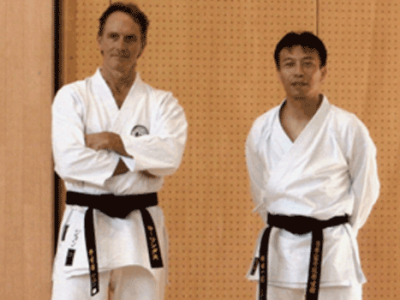 Kazatoshi Sensei and JR at Kenseikan Japan Dojo