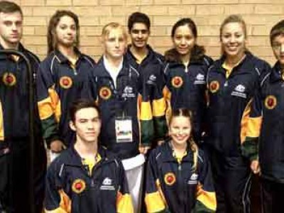 Lily and other Australian Reps from Qld Oceania 2012