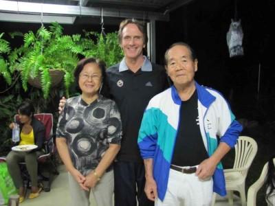 Matsumoto Sensei, Mrs Matsumoto and JR – Seminar  Matsumoto Dojo in Cairns